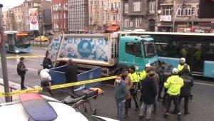 İstanbul'un göbeğinde talihsiz gencin feci ölümü kamerada