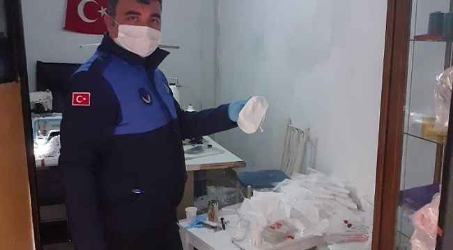 Kaçak maske üretimi yapan işyeri mühürlendi - Bursa Haberleri