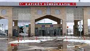 Kapıköy Kara Hudut Kapısında giriş çıkışlar durduruluyor