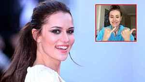 Karantinada olan Fahriye Evcen, el dansıyla Instagram'a damga vurdu