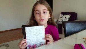 Miniklerden Bakan Koca ve sağlık çalışanlarına teşekkür mektubu