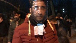 Mülteci gençlerden '5 litrelik' pet şişeden gaz maskesi