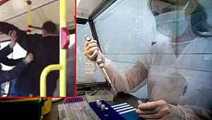Öksüren yolcu, dövülerek otobüsten indirildi