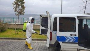 Polis araçlarına korona virüsü tedbiri - Bursa Haberleri