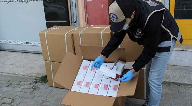 Sertifikasız maske üreten adrese operasyon: 14 bin maske ele geçirildi