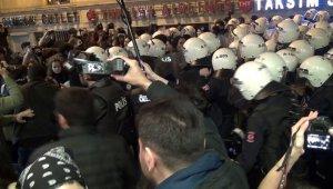 Taksim'de izinsiz gösteride 34 kişi gözaltına alındı