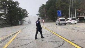 Uludağ Milli Parklar gişeleri kapatıldı - Bursa Haberleri