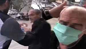 Yaşlı adama zorla maske takan şüphelinin ifadesi ortaya çıktı,