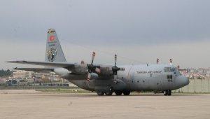 ABD'ye gönderilen yardım malzemelerini taşıyan uçak havalandı