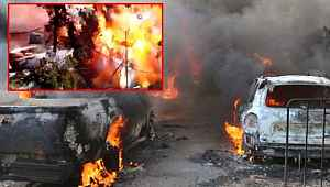 Afrin'de 42 kişinin öldüğü PKK saldırısında patlama anının görüntüleri ortaya çıktı