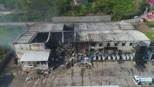 Balık fabrikasındaki yangının boyutu gün ağarınca ortaya çıktı