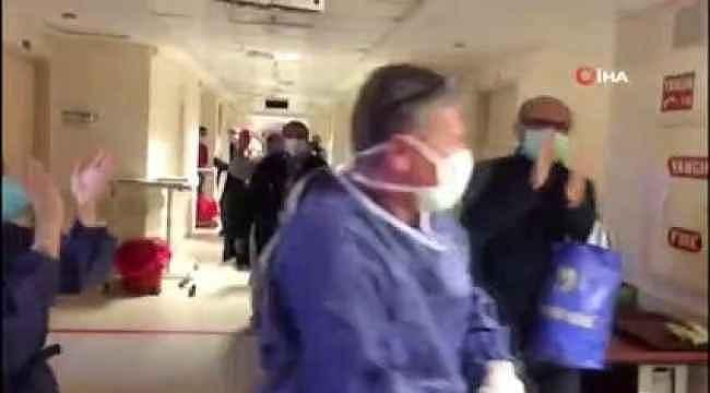 Başkent'te korona virüs şüphesiyle gözetim altında tutulan 40 kişi alkışlarla uğurlandı