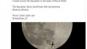 Bayraktar'dan İdlib semalarında dolunayla buluşan yerli İHA paylaşımı