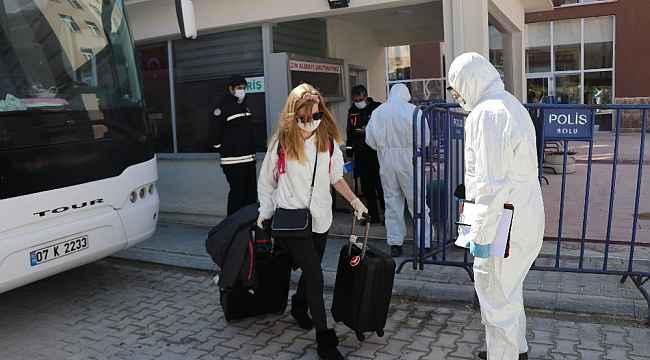 Bolu'da, karantina sürecini tamamlayan 149 kişi evine döndü