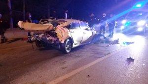 Burdur-Antalya çevreyolunda kaza: 1 ölü, 1 yaralı