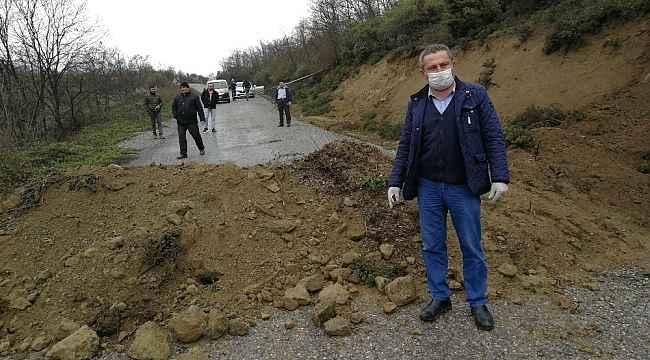 Bursa Kocaeli arasındaki dağ yolu toprakla kapatıldı, uyanık sürücüler yolda kaldı - Bursa Haberleri