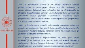 """Bursa Valiliği: """"Korona virüs tespit edilen 19 kişi taburcu oldu"""" - Bursa Haberleri"""