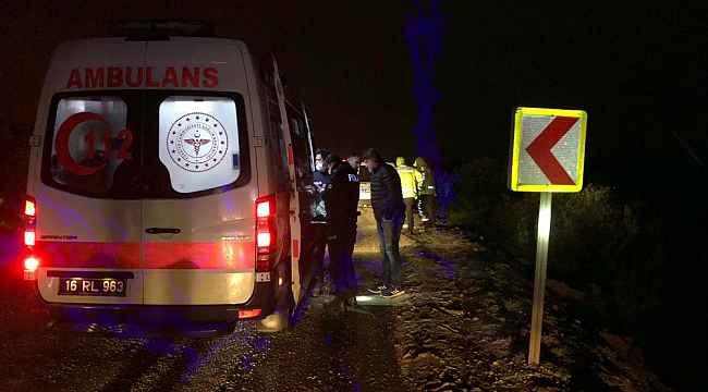 Bursa'da kontrolden çıkan otomobil 30 metre şarampole uçtu - Bursa Haberleri
