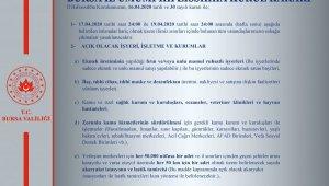 Bursa'da sokağa çıkma yasağına ilişkin kararlar açıklandı - Bursa Haberleri