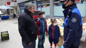 Çocuklarını alıp pazara çıktı, zabıtaya yakalandı - Bursa Haberleri