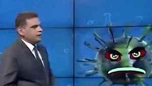 Irak'ta televizyon kanalı koronavirüs ile röportaj yaptı,