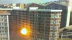İstanbul'da doğal gaz patlaması kamerada