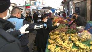 """İstanbul'da pazar denetiminde ilginç tepki: """"Çürük koyuyorlar"""""""