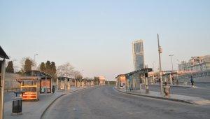 İstanbul'un yolları bomboş kaldı
