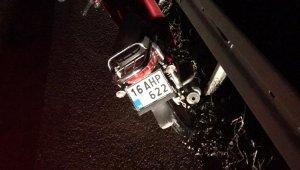 Karacabey'de çalıntı motorla kaza yaptı - Bursa haberleri