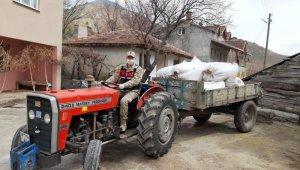 Karantina altında samanı biten köye, Jandarma saman taşıdı
