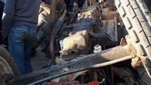 Kontrolden çıkan traktör devrildi: 1 ölü, 4 yaralı - Bursa Haberleri