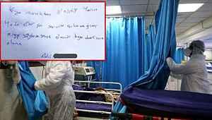 Korona hastasının uyanır uyanmaz yazdığı not, doktorları duygulandırdı
