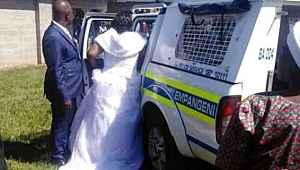 Koronavirüs kuralını ihlal eden gelin ve damat tutuklandı