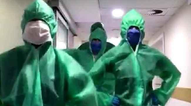 Koronavirüsle mücadele eden doktorların penguen dansı, izlenme rekorları kırdı