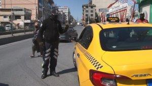 Maskesiz ticari taksi sürücüsüne bin lira ceza