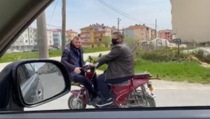 Motosikletle ilginç korona mesajına 1360 TL ceza