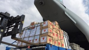 """MSB: """"Tıbbi yardım malzemelerini Güney Afrika Cumhuriyeti'ne ulaştıracak TSK'ya ait uçak hareket etti"""""""