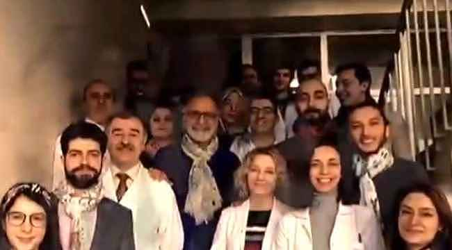 Öğrencilerinin Prof. Dr. Cemil Taşçıoğlu hastanede yatarken hazırladıkları klip