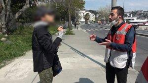 Sahilde yürüyüş yapan kadının ceza kesen polise söyledikleri şaşırttı