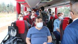 Şanlıurfa'da karantina süresi biten 315 kişi memleketlerine gönderildi