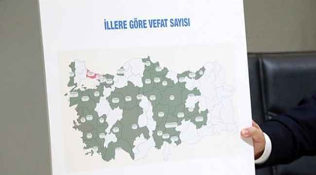 Türkiye'de koronavirüs kaynaklı en çok vaka ve vefat görülen 10 il belli oldu
