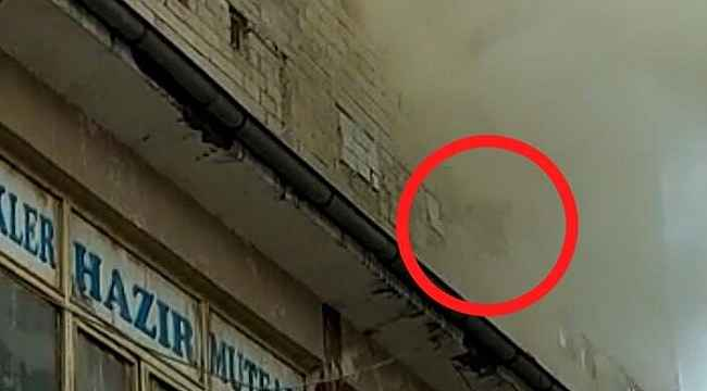 Yangında mahsur kalan hamile kadın pencereden böyle atladı