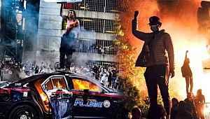 ABD'de siyahilerin isyanı durdurulamıyor... 25 kentte sokağa çıkma yasağı ilan edildi