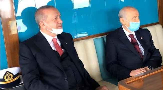 Aylar sonra bir araya gelen Erdoğan ve Bahçeli, birlikte yolculuk etti