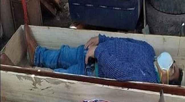 Belediye başkanı karantinayı ihlal etti, yakalanınca tabuta girip ölü taklidi yaptı