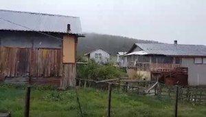 Bolu'nun yüksek kesimlerine Mayıs ayında kar yağdı