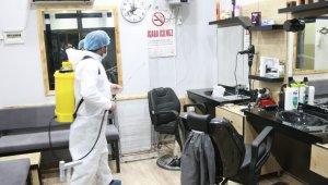 Bursa'da açılış öncesi berber ve kuaförlere dezenfekte seferberliği - Bursa Haberleri