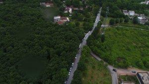 Bursa'da bayram kısıtlaması öncesi kilometrelerce su kuyruğu - Bursa Haberleri