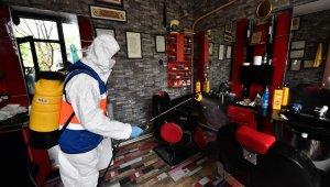 Bursa'da berber ve kuaförler dezenfekte edildi - bursa Haberleri