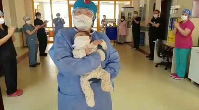 Bursa'da korona virüsü tedavisi gören 45 günlük bebek taburcu oldu - Bursa haberleri